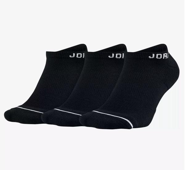 NIKE配件系列-JUMPMAN NO-SHOW 3PPK 黑色襪-NO.SX5546010