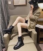 馬丁靴 馬丁靴女短靴2021年新款春夏英倫單靴低跟短筒網紅瘦瘦靴ins【快速出貨八折特惠】!