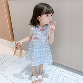 女童洋裝夏裝兒童洋氣裙子小童中國風 薄款寶寶旗袍年終穿搭new Year