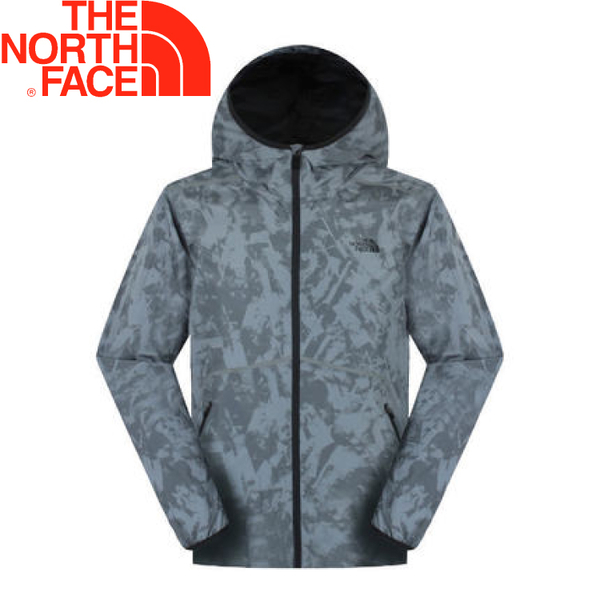 【The North Face 男款 抗UV防風外套《灰色印花》】NF0A2SMA/防潑水/運動外套/輕量★滿額送