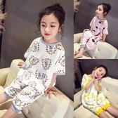 女童家居服春夏兒童動物連體睡衣防踢被可愛卡通短袖中大童睡袋