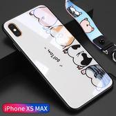 蘋果8plus手機殼iphonex玻璃全包6s防摔9套iphone個性創意情侶可愛卡通手機殼
