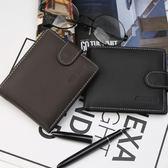 短款錢包男士錢夾票夾證件多卡位潮商務手拿包橫款 LQ5990『miss洛羽』