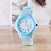 兒童電子手錶指針式男孩女孩學生石英錶小學生女童男童電子錶防水  極有家