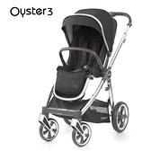 Oyster3 英國雙向嬰幼兒手推車-曜石黑 M-OYSTER3-BK-FF