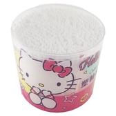 小禮堂 Hello Kitty 圓罐裝雙頭棉花棒 塑軸棉花棒 棉棒 淘耳棒 300支入 (粉黃 摸嘴) 4715664-20353