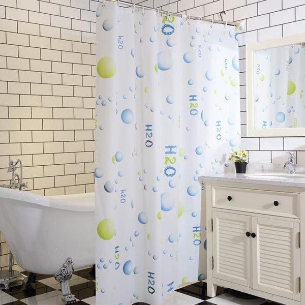 衛生間防水浴簾浴室洗澡簾布廁所隔斷簾門窗拉簾淋浴簾伸縮桿套裝MJBL 年尾牙提前購