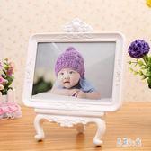 7寸精美高檔寶寶擺臺創意兒童歐式婚紗相框七寸可愛影樓嬰兒相架OB3355『易購3c館』