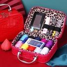 紅色針線盒結婚嫁妝針線包便攜收納盒家用多功能縫紉工具陪嫁套裝 亞斯藍