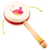 拼圖 木質撥浪鼓1-2歲6-12個月3寶寶益智男女孩0新生兒嬰兒玩具 伊衫風尚