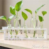 創意水培花瓶透明玻璃小清新個性擺件客廳桌面裝飾品綠蘿植物容器 HM 范思蓮恩