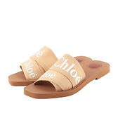 【CHLOE】WOODY FLAT MULE平底拖鞋35/36/37/38/39(奶茶色) CHC19U18808275
