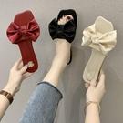 仙女風涼拖鞋女外穿2021年夏季新款時尚百搭蝴蝶結防滑一字拖鞋女 蘿莉新品