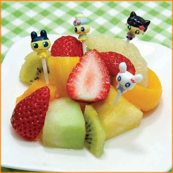 廚房【asdfkitty】 Tamagotchi塔麻可吉食物叉/水果插/便當.點心-日本BANDAI正版商品