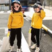 女童套裝免運秋冬裝新款大童洋氣衛衣兒童加絨加厚女孩運動兩件套