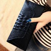 2018夏季新款女士錢包女 長款真皮大容量鱷魚紋牛皮錢夾女小手包 js1262『科炫3C』