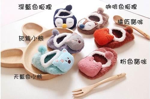 童襪 韓國秋冬珊瑚絨卡通防滑襪 B6B001 AIB小舖