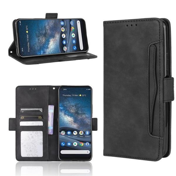 諾基亞 Nokia 5.4 手機殼 Nokia 8.3 復古皮紋 多卡槽 側翻皮套 磁扣 支架 全包軟殼 手機套