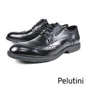 【Pelutini】時尚雕花輕量德比紳士鞋  黑色(8342-BL)