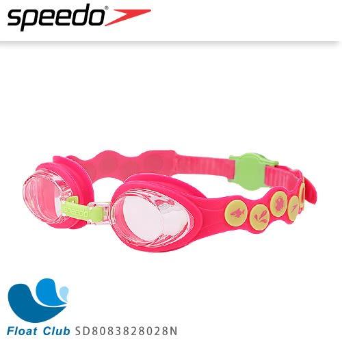 【SPEEDO】兒童款泳鏡 Sea Squad 2-6歲適用 (粉紅/綠) SD8083828028N