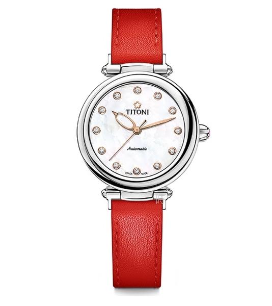 TITONI 梅花麥 瑞士 時尚機械錶 (23978 S-STR) 快拆/巨星紅