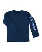美國 RuffleButts 兒童長袖泳衣 - 海軍藍