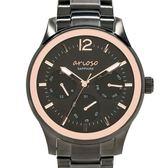 【人文行旅】Arioso   AR1710BK 沉穩簡約黑金男士腕錶 40mm