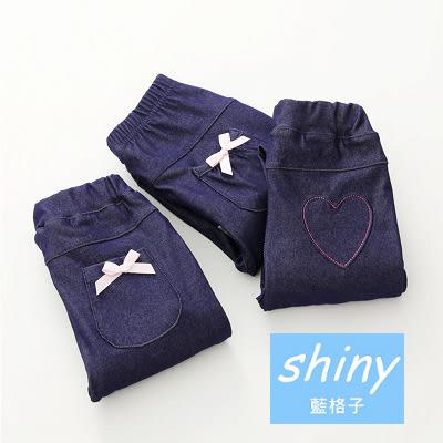 【R8170】shiny藍格子-嬰幼館.春秋裝韓版女童可愛圖案牛仔長褲