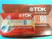 TDK錄音帶D90空白錄音帶90分鐘/ 一盒/ 10捲入