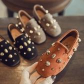 春季韓版鞋子女童公主鞋豆豆鞋