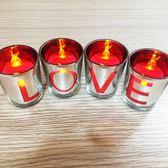 七夕LOVE蠟燭創意浪漫蠟燭求婚道具結婚戀愛表白蠟燭創意生日禮物wy