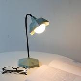 台燈 ins小台燈充插電兩用調光護眼書桌大學生宿舍閱讀床頭燈【快速出貨八折搶購】