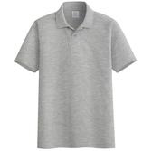 純色薄款短袖polo衫男寬鬆半袖男女翻領t恤中老年休閒夏季保羅衫【快速出貨】