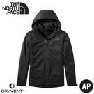 【The North Face 女 二件式DryVent防水外套《黑》】4NCZ/透氣防風耐磨/夾克/風雨衣
