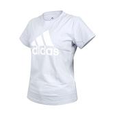ADIDAS 女短袖T恤(純棉 亞規 休閒 上衣 慢跑 愛迪達≡體院≡ GV4029