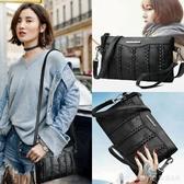 女士包包2020新款百搭斜挎包軟皮單肩包時尚媽媽手拿斜挎女包 LannaS