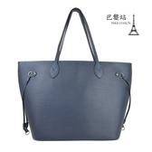 【巴黎站二手名牌專賣店】*現貨*LV 路易威登 真品*M40885 靛藍色Epi皮革 NEVERFULL MM