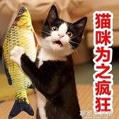 貓玩具貓薄荷逗貓貓咬牙磨牙的小貓抱枕寵物仿真貓咪博荷草魚枕頭·享家