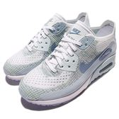 【五折特賣】Nike 休閒鞋 Wmns Air Max 90 Ultra 2.0 Flyknit 藍 白 氣墊 女鞋 【PUMP306】 881109-105