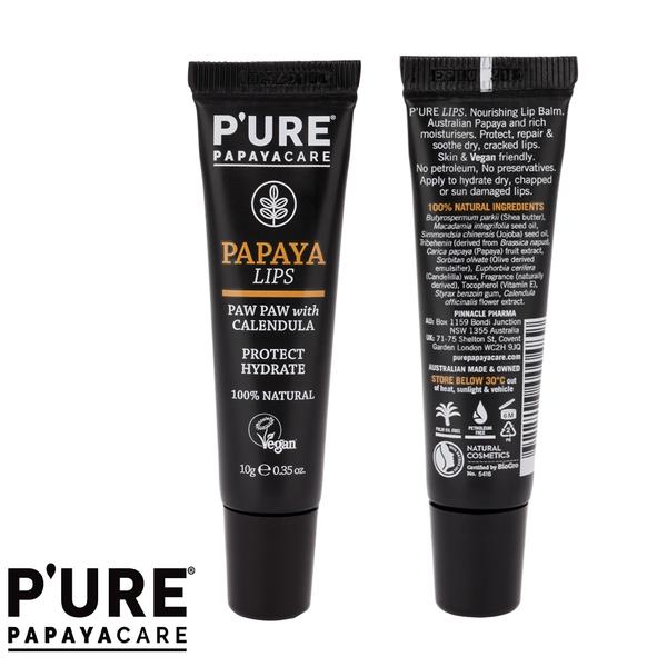 【澳洲 Pure Papayacare】番木瓜護唇膏含金盞花(2 入組 10g/條)