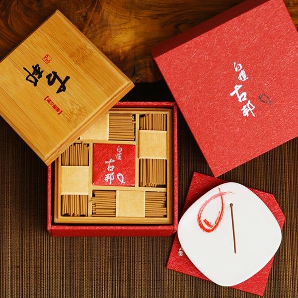 【富山香堂】白檀古邦三層盒裝組 臥香 香氛 禮品 禮盒 薰香 線香 檀香 原木香氛
