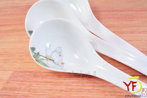 【堯峰陶瓷】骨瓷 白山茶 大湯勺 大湯匙 單入 | 雞湯最適用 | 新婚贈禮 | 新居落成禮現貨