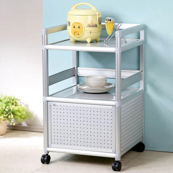 YoStyle 鋁合金1.5尺單門收納櫃(黑花格) 泡茶櫃 活動架 層架 鋁架 小吃店 餐廳 碗盤櫃