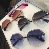 墨鏡 新款女士韓版潮復古圓臉網紅流行太陽鏡街拍眼鏡 - 雙十二交換禮物