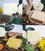 四入組特惠 acon pure 連淨 苦茶油手工皂(白玉/竹薑/薑黃/粹白各1) 100g/塊 附禮袋
