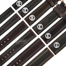 Watchband / 12.14.17.18.19.20 mm / 各品牌通用 DW 真皮替用錶帶 鍍玫瑰金不鏽鋼扣頭 深咖啡色 #828-02-BR