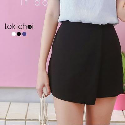 東京著衣-鈕釦裝飾拼接短褲-XS.S.M.L(6011794)
