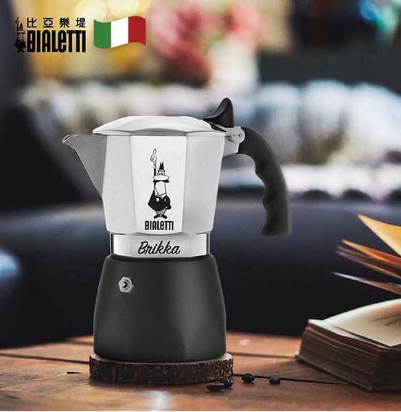 【Bialetti加壓款】新款黑底摩卡壺-4杯份(贈Bialetti專用罐裝咖啡粉)