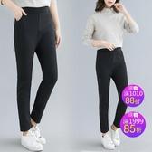 休閒褲加絨輕薄黑色顯瘦 寬鬆修身休閒寬鬆大尺碼