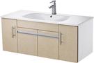 【台灣吉田】LOP-8110 110cm全發泡桶身/水晶面板 浴櫃組